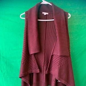 Cardigan vest sweater